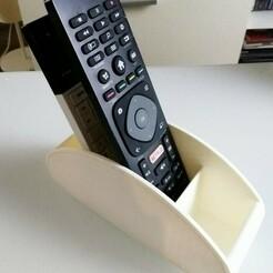 telecommande 3 copie.jpg Télécharger fichier STL gratuit rangement 4 telecommandes  • Design imprimable en 3D, ibellot