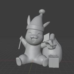pikachu christmas.PNG Download free STL file Christmas Pikachu • 3D printable model, JayMull420