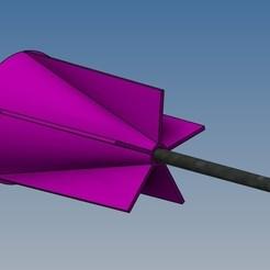 Flèchette à aillette 1.jpg Download free STL file Blowgun darts • 3D printable design, Rico38
