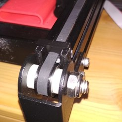 Download free 3D printer files Y-axis belt tension adjustment wedge (original mounting), Rico38