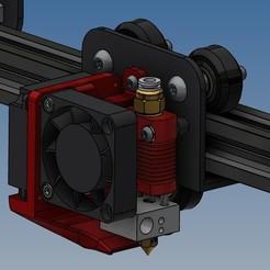 Sans titre 6.jpg Télécharger fichier STL Support ventilateurs Ender 3 version mixte • Modèle pour imprimante 3D, Rico38