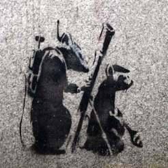 Télécharger modèle 3D gratuit Pochoir de la terreur du rat Banksy, manuel666