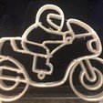 Download STL file Motorcycle keychain • 3D printable template, palmiermonique