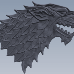 Juego de Tronos 1.png Download STL file Game of Thrones Toothpaste Squeezer, Stark's House • 3D printing template, XaviVilasecaGarcia
