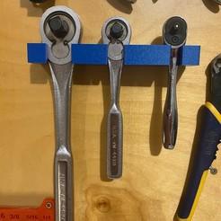 42D95814-68BB-4655-B6F9-D7F432333AAD.JPG Download STL file Socket Wrench Holder • 3D printing model, apiary15