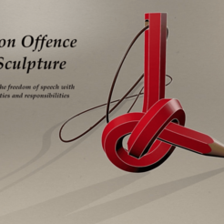 Download free 3D printing models Non Offence Sculpture, francoispolito