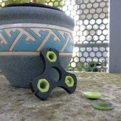 Download free 3D printer files 3X M10 Mutter Fidget Spinner, francoispolito