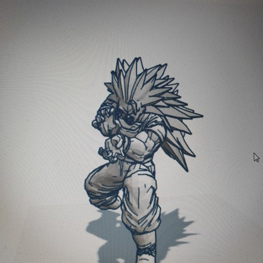 20200410_184604.jpg Télécharger fichier STL gratuit GOKU DRAGON BALL FIGURINE MANGA ANIME DRAGON BALL Z • Modèle à imprimer en 3D, Mathias_Cst07