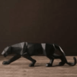 Download free STL file ORIGAMI PANTHERE / panther / ART / DESIGN /low poly/LOW POLY • 3D printing object, Mathias_Cst07
