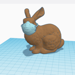 Download free 3D printer templates RABBIT/RABBIT/BUNNY/MASK/COVID 19/CORONAVIRUS/MASQUE/LAPIN MIGNON/JOUET /DECORATION/DECO/TOY/EASTER/PAQUE/SOIGNANT/ESPOIR/#3DvsCOVID19/MEDECIN, Mathias_Cst07