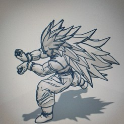 Télécharger fichier STL gratuit GOKU DRAGON BALL FIGURINE MANGA ANIME DRAGON BALL Z • Modèle à imprimer en 3D, Mathias_Cst07