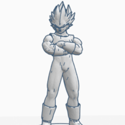 Download free 3D printing templates VEGETA DRAGON BALL FIGURINE MANGA ANIME DRAGON BALL Z FIGURINE VEGETA GOKU SAGA JAPAN, Mathias_Cst07