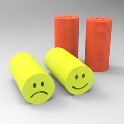 untitled.261.jpg Download OBJ file Reusable cannabis filter (smile/sad model) • 3D printer template, Apolo11