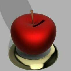 23b.JPG Télécharger fichier OBJ Tirelire / tirelire de la pomme • Modèle à imprimer en 3D, leopa89m
