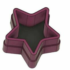 29e.JPG Download OBJ file Star-shaped jewelry box / start /boîte à bijoux • 3D printer design, leopa89m