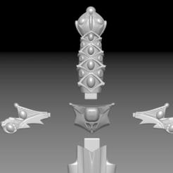 sword keyed.png Télécharger fichier STL Épée magique - Zelda II • Design pour imprimante 3D, Costa3D