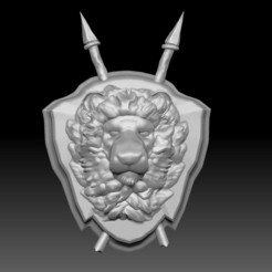 ZBrush Docume2nt.jpg Download free STL file Lion Bust/ Wall Mount • 3D print template, Costa3D