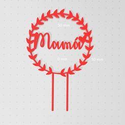 Download STL file Topper Cake Mama • 3D print template, DiaLoNah