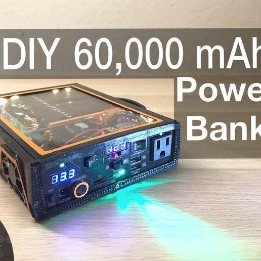 Télécharger plan imprimante 3D gatuit DIY 222Wh Powerbank, ellisdrake21
