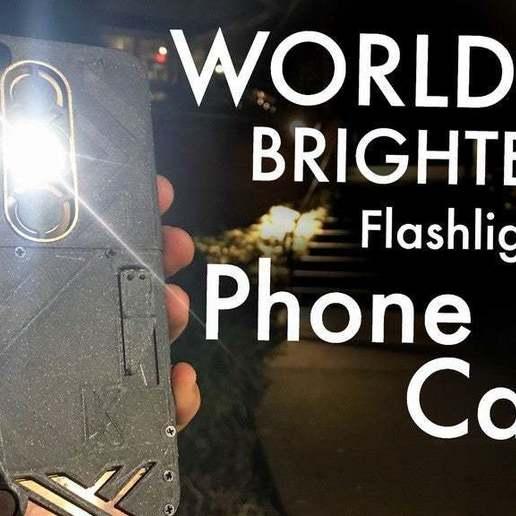 Télécharger modèle 3D gratuit L'étui de téléphone avec lampe de poche le plus lumineux du monde (DIY) avec une fonction supplémentaire de banque d'énergie, ellisdrake21