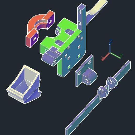 2.JPG Download free STL file Holder for e3d v6 hotend to MGN9H carrier • Design to 3D print, tigorlab