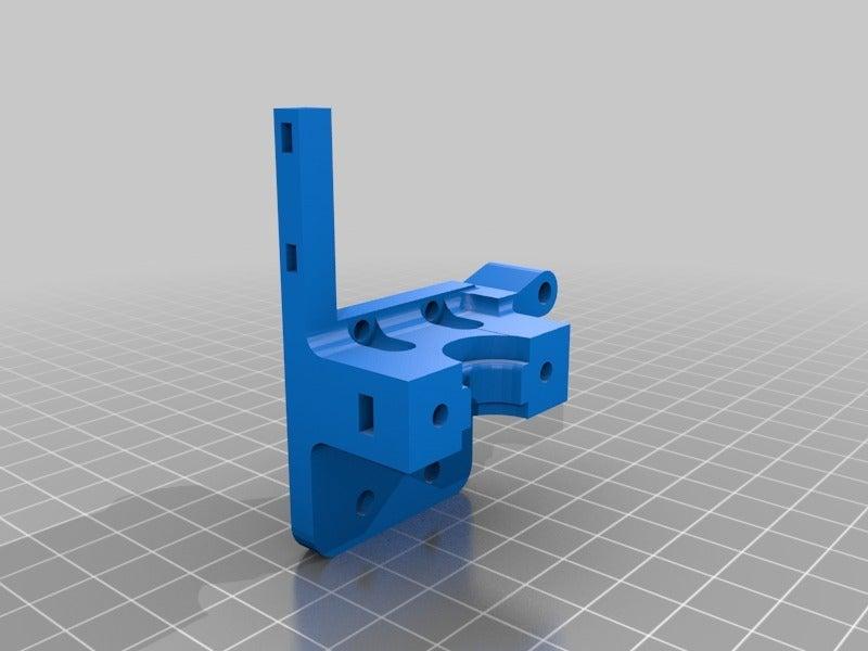 ecb79ebdc574ddc5b70e280f8bdd91cd.png Download free STL file Holder for e3d v6 hotend to MGN9H carrier • Design to 3D print, tigorlab