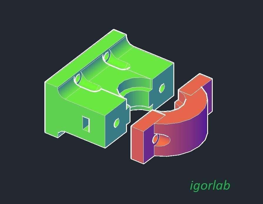 MGN9H_for_e3d_v6_-_final.jpg Download free STL file Holder for e3d v6 hotend to MGN9H carrier • Design to 3D print, tigorlab