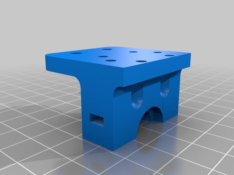 90219b61bf0adeb6c6dfc2ba1a39f493.png Download free STL file Holder for e3d v6 hotend to MGN9H carrier • Design to 3D print, tigorlab
