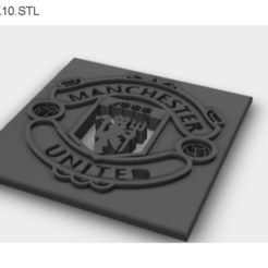 Manchester United logo stl.png Download STL file Manchester United logo • 3D printable design, ahmdmtwly54
