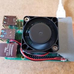 20200406_170318.jpg Télécharger fichier STL Raspberry PI 4 Porte ventilateur 40x40 mm • Objet imprimable en 3D, Alarevoyure