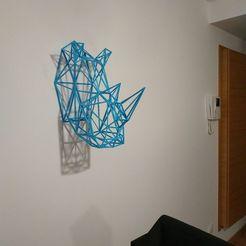 IMG_20200929_201319.jpg Télécharger fichier STL Puzzle RHINO 3D - Figurine murale en fil de fer • Modèle pour imprimante 3D, Trisophy