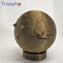 IMG_20201013_174625_S.jpg Download STL file MARS – High relief planet + stand • 3D print model, Trisophy