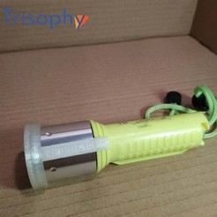 watermark3.jpg Download free STL file Dive Torch Light Diffuser • 3D printable design, Trisophy