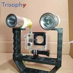 watermark_5.jpg Download free STL file Action camera or gopro camera rig • 3D printable object, Trisophy
