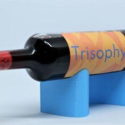 PAPER_BLUE_S.jpg Download free STL file PAPER wine bottle holder (FREE) • 3D printable object, Trisophy