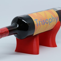 IMG_1700.JPG Download STL file WAVE CREST wine display / horizontal holder • 3D print model, Trisophy
