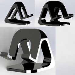 collage.jpg Télécharger fichier STL Support de station de recharge pour tablette téléphonique Pro • Objet à imprimer en 3D, Korben