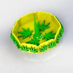 Download STL files Marijuana 420 Ash Tray with Poker, Korben