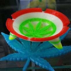 Télécharger fichier STL 420 cendrier de feuilles de mauvaises herbes à fumer • Design imprimable en 3D, Korben