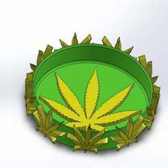Télécharger fichier STL Cendrier de 420 feuilles de mauvaises herbes fumantes • Design à imprimer en 3D, Korben