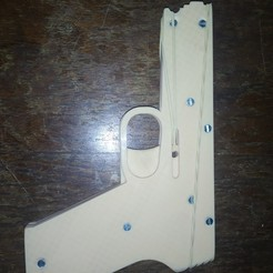 Download free STL Rubber Band Gun, maurireynoso