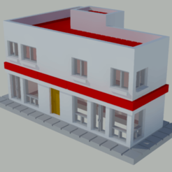 Download free 3D printer model Small apartment and commercial building, gaudikudo