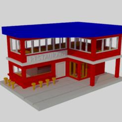 Télécharger fichier STL Restaurant N-scale • Objet pour impression 3D, gaudikudo