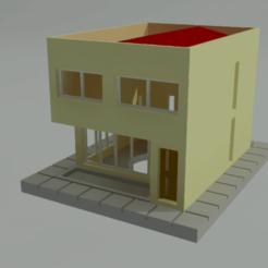 Download free 3D printer files Basic house in 3D, gaudikudo