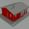 Télécharger fichier STL gratuit Maison de base à un étage à l'échelle N • Plan à imprimer en 3D, gaudikudo