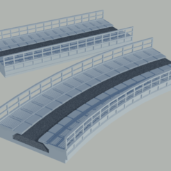 puentes bachmann 01.png Download STL file Bridges for Bachmann EZ TRack tracks • Object to 3D print, gaudikudo