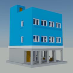 edificio con cafeteria 01.png Download STL file Building with cafeteria • Template to 3D print, gaudikudo