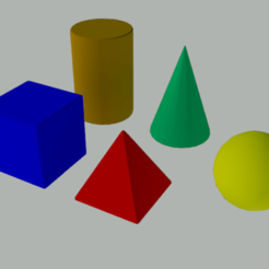 Download free STL file 3D geometric figures for teaching • 3D print design, gaudikudo