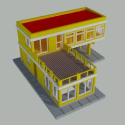 vivienda 2 pisos escala N 01.png Download STL file L-shaped house, N-scale • Design to 3D print, gaudikudo