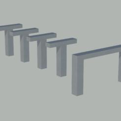 pilares y vigas 01.png Download free STL file Pillars with beams for level crossings in N scale • 3D print template, gaudikudo